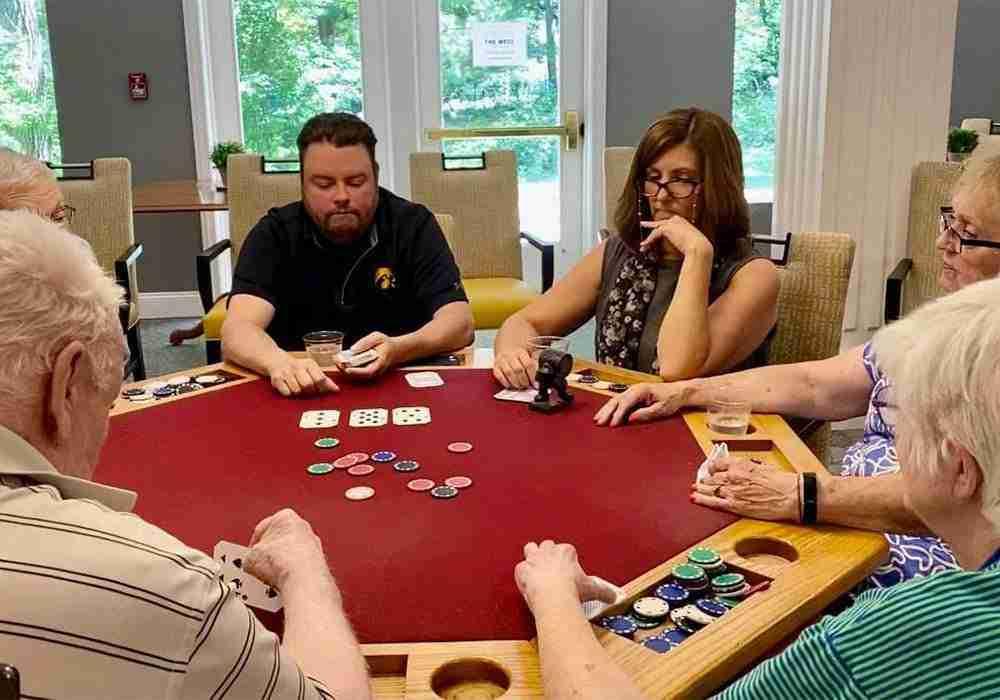 players around poker table