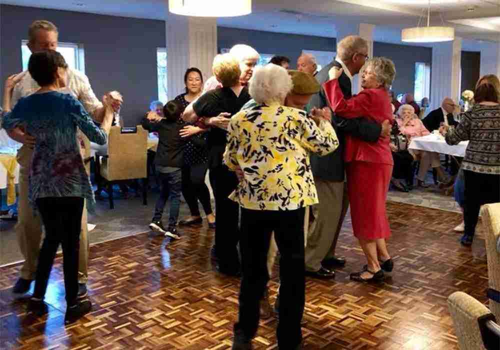 residents dancing